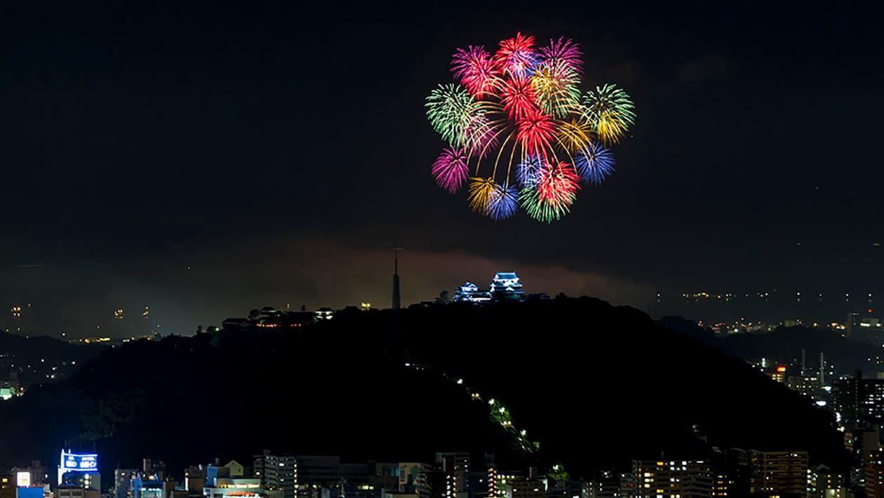 三津滨烟火大会